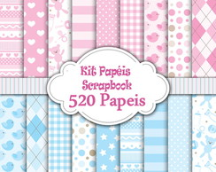 520 Kits Papéis Scrapbook Digital!