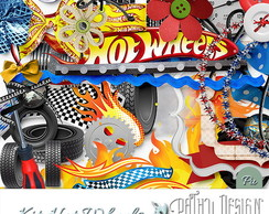 Kit Scrapbook Digital Hot Wheels