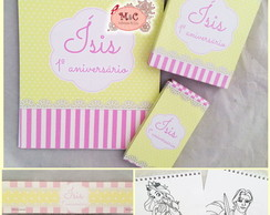 Kit Para Colorir - Shabby Chic