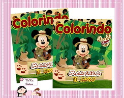 Revista colorir Mickey safari