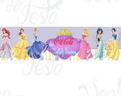 Rótulo Mini Coca Cola Princesas