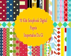 70 Kits de Papeis para Scrapbook Digital