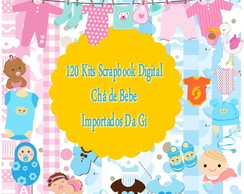 120 kits Scrapbook Digital - Chá de Bebe