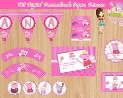 Kit Digital Personalizado Peppa Princesa