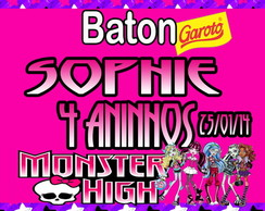 Rótulo Chocolate Baton Monster High