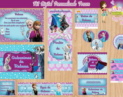 Kit Digital Personalizado Frozen