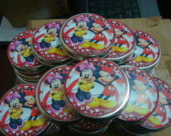 Latinha Personalizada Minnie e Mickey
