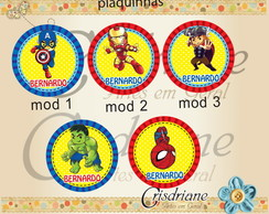 Plaquinhas / Toppers Mini Heroes