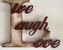 Letras Decorativas - Live Laugh Love