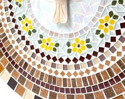 dba6c66a14d ... Mandala em mosaico Divino Espírito Santo Ocre