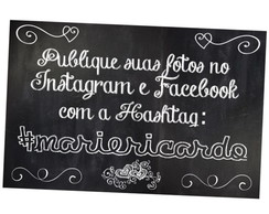 Arte Digital - Placa Hashtag