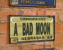 Conj. 3 Placas Correntes Bad Moon Rising