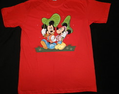 camiseta MINNIE e MICKEY na chuva