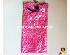 Porta Sombrinha Animal Print Rosa
