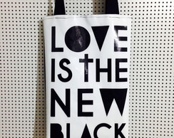 Bolsa lona Love is the new black