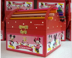 BOX LAPIS FESTA MICKEY MINNIE CENTRO MES