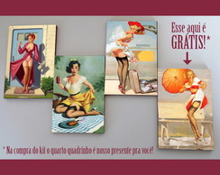 "Kit quadros pin-ups ""Caramba"""