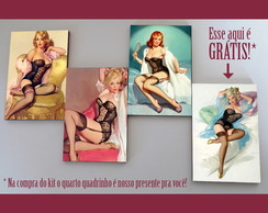 "Kit quadros pin-ups ""Corsette"""