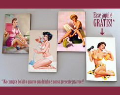 "Kit quadros pin-ups ""Cubs"""