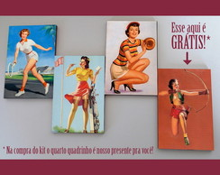 Kit quadros pin-ups 'Esportiva'