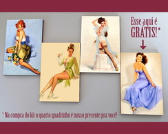 Kit quadros pin-ups 'Gotcha'