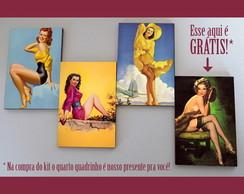 Kit quadros pin-ups 'Hyper Color'
