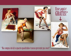 Kit quadros pin-ups 'Indoor'