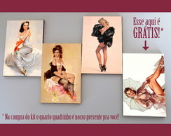 Kit quadros pin-ups 'Kittens'
