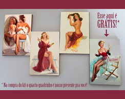 Kit quadros pin-ups 'Mirror'