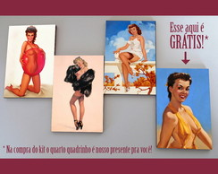 Kit quadros pin-ups 'Nice'