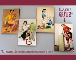 Kit quadros pin-ups 'Ocupadas'