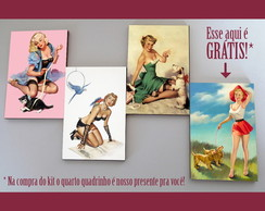 Kit quadros pin-ups 'Petshop'