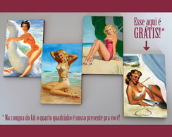 Kit quadros pin-ups 'Praieira'