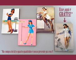 Kit quadros pin-ups 'Protect Serve'