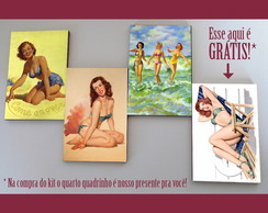 Kit quadros pin-ups 'Sun tan'