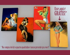 Kit quadros pin-ups 'Super color'