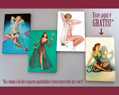 Kit quadros pin-ups 'Transparente'