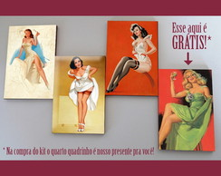 Kit quadros pin-ups 'Trè chic'