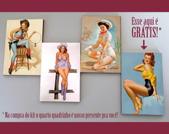 Kit quadros pin-ups 'Wild west'