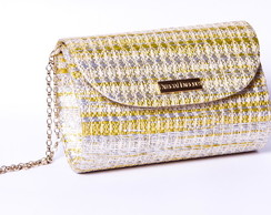 Clutch de palha dourada mix fat