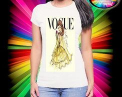 Camiseta Vogue Princesa Bela