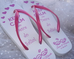 Chinelo Casamento KEEP CALM pink