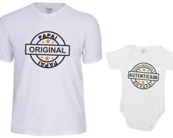 Camiseta Divertida DP11 - Kit Pai e Filho/Filha Copia Papai