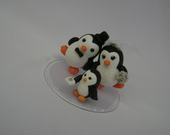 PINGUINS DE BISCUIT COM FILHA