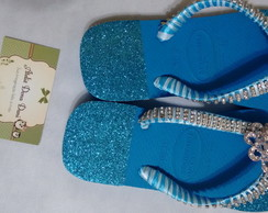 Havaiana Decorada blue