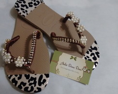Havaiana Decorada Brown