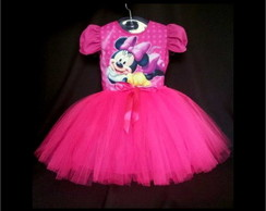 Vestido Minnie - Vestido Infantil Minnie