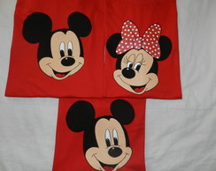 KIT 3 camisetas ROSTO MICKEY e MINNIE