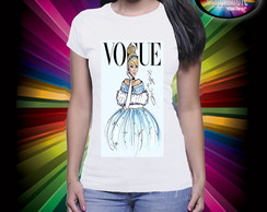 Camiseta Vogue Princesa Cinderela