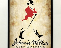 Quadro Johnnie Walker Keep Walking Vintage